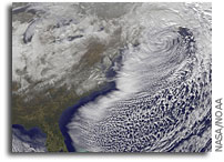 Photo: GOES-13 Satellite Captures Blizzard Leaving New England