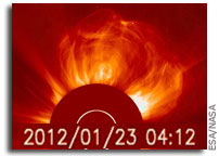 Massive Solar Storm Heads for Earth