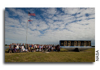 NASA STS-129 tweetup Group Photo